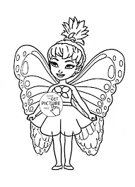 Small Picture Cute Little Fairy Coloring Page For Kids For Girls Coloring Pages