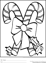 Christmas Coloring Pages For Kids Candy Canes Coloring Pages