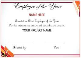 Employee Of The Quarter Certificate Employee Of The Year Award Wording Certificate Month Quarter