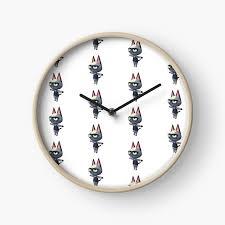 animal crossing log wall mounted clock