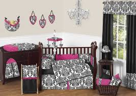 Sweet Jojo Designs Bedding Sets Designer Hot Pink Black And White