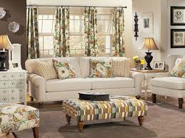 White Sofa Living Room Country Living Room With White Sofa And Floral Curtains