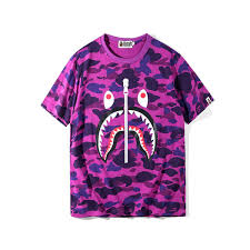 <b>BAPE</b> Mens Designer T Shirt Fashion <b>Shark Printing</b> T Shirts Jacket ...