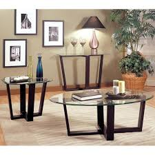 alexis black glass coffee table set