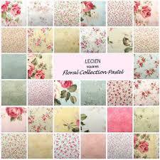 Lecien Charm Pack Fabric Squares Floral Pastel Patchwork Quilting ... & Lecien Charm Pack Fabric Squares Floral Pastel Patchwork Quilting not Moda Adamdwight.com