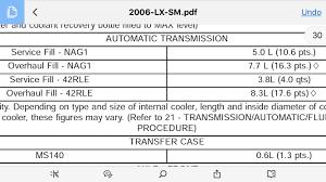 Nag1 Trans Fluid Level