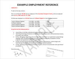 55 Recent Letter Confirming Employment Free Template Resume Templates