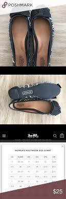 Coach Shoes Size Chart Coach Flats Leopard Print Sz 7 Very Good Pre Owned Condition