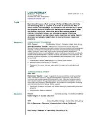 teachers resumes examples resume for elementary teacher