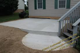 stamped concrete patio. Stamped Concrete Patio With NEW Fire Pit | Carbaugh Contractor Hanover PA