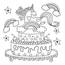 unicorn colouring pages