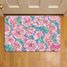 fl tropical pattern lilly pulitzer 911 door mat rug carpet
