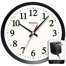 office clock wall. Nesmith Round Electric Powered Office 14\ Clock Wall