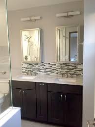 glass tile backsplash in amusing bathroom glass tile backsplash