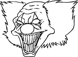 Scary Clown Coloring Page Sweetestleafco