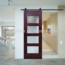 kitchen room 4 panel gl sliding barn doors birch santa monica contemporary door