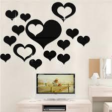 5 in 1 love shape mirror art decor wall