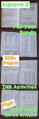 algebra 2 interactive notebook activities and scaffolded notes systems of equationssolving