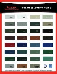 Firestone Metal Products Color Chart Una Clad Metal Color Selection Chart Roof Snow Guards
