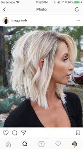 Blonde Blonde Hair Hairstyle Bob Lob Haircut Blonde Bayalage