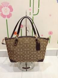 Coach 36181 Outline Signature Small Kelsey Satchel - Brown