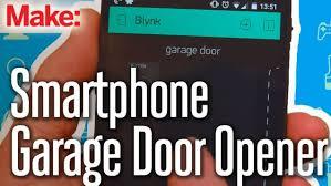 open garage door with phoneBuild a SmartphoneControlled Garage Door Opener