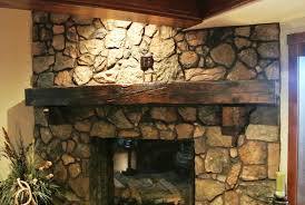 image of rustic wooden fireplace mantels