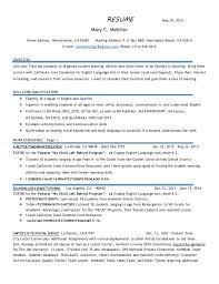 RESUME May 29, 2015 Mary C. Melchor Home Address: Westminster, ...