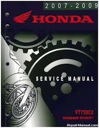 vt750c2 service manual 2007 2009 honda shadow spirit repair vt750c2 service manual