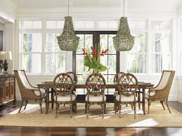Chandeliers For Kitchen Tables Shell Chandeliers And Tropical Dining Set From Tommy Bahama Home