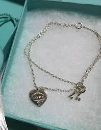 authentic tiffany s love heart tag key bracelet women s fashion jewelry on carou