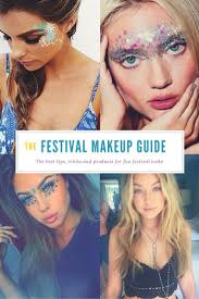 festival makeup essentials including glitter ideas tips