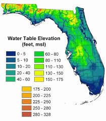 Florida Water Depth Chart Of Water Table Map Florida