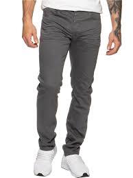 Mens Grey Designer Jeans Eto Designer Mens Tapered Fit Grey Stretch Denim Jeans