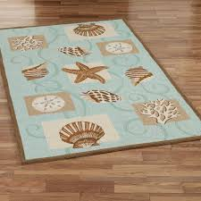ocean themed area rugs sea shell hooked wool fish rug round teal clearance nautical yellow kitchen southwestern foot large beach cottage magnificent seaside