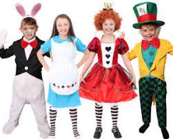 Image Is Loading WONDERLAND KIDS BOOK CHARACTER COSTUMES QUEEN ALICE HATTER