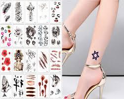Y Xlwn 20 шт временная татуировка маленькая милая модная татуировка серебряная