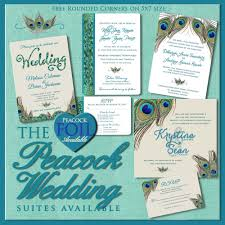 Peacock Invitations Invitations Peacock Wedding Floral Wedding Invitation Suites
