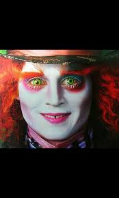 mad hatter makeup need this for my costume pin if you are being the same