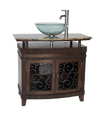 adelina 36 inch vessel sink bathroom vanity gany finish