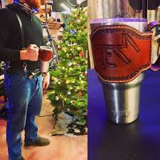 photo of spartan custom leather castroville tx united states yeti koozie with