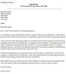 Cover Letter Teaching Assistant Puentesenelaire Cover Letter