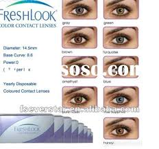 Freshlook Lenses Colors Chart Freshlook Color Lenses Freshlook Color Lenses Manufacturers