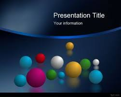Free Download Powerpoint Presentation Templates Free Space Balls Powerpoint Templates