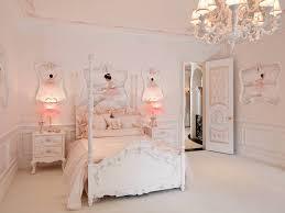pink chandelier lighting. Pink Girls\u0027 Bedroom With Light Chandelier Lighting