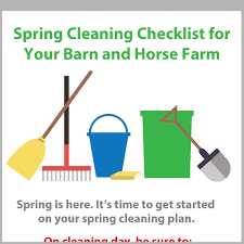 Spring Cleaning Checklist For Your Barn And Horse Farm Kpp