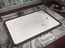 venzi aqui 48 x 78 rectangular whirlpool jetted bathtub with center drain by atlantis