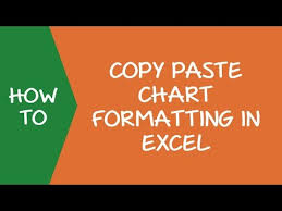 How To Copy Chart Graph Format In Excel