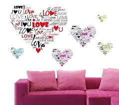 heart wall decoration multi age i love you heart wall sticker removable wall decal art vinyl heart wall decoration