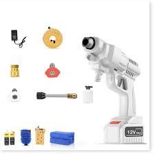 Máy rửa xe áp lực cao pin sạc 4400ma 22bar cầm tay WhitePower (full option  như ảnh) chính hãng 1,950,000đ